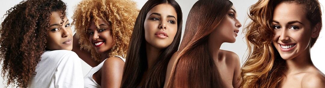 Frauen mit schönen Haaren