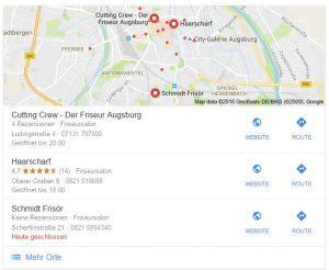 Google Maps Auszug