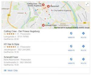 friseur auf google maps