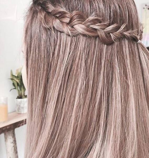 Balayage mit Haarkranz