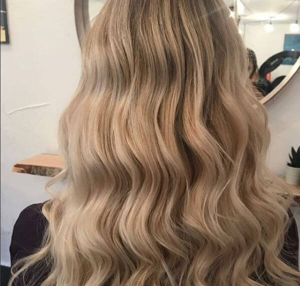 Balayage mit Beach Waves